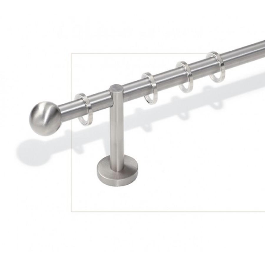 Art. Sfera Diametro 16 - Lunghezza Bastone 300 finitura acciaio satinato