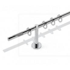 Art. Antares diametro 16 -  bastone cm. 340  acciaio lucido