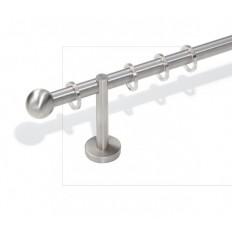Art. Sfera Diametro 16 - Lunghezza Bastone 120 finitura acciaio satinato